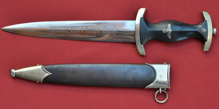 German Nazi Waffen Ss Em Dagger W Scabbard Pictures To Pin On