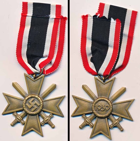 WW2 German War Service Cross 2nd Class with Swords.  Kriegsverdienstkreuz 2. mit Schwerten 56 Robert Hauschild