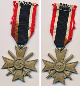WW2 German War Service Merit Cross with Swords 2nd Class Kriegsverdienstkreuz mit Schwerten