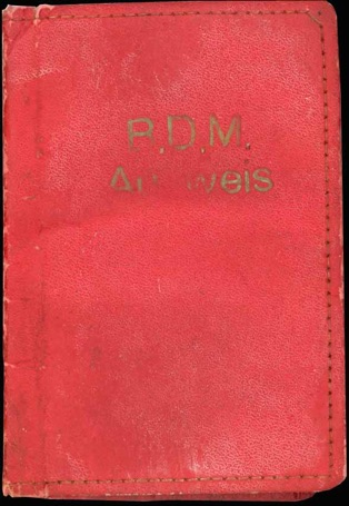 WW2 German BDM Ausweis Cover HJ