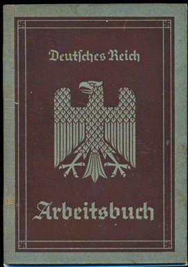 WW2 German 1st Style Arbeitsbuch worker's id 14 year old helper