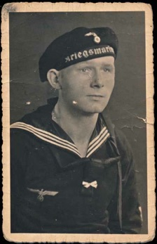 Original WW2 German Kriegsmarine Photo Sailor Boatswain