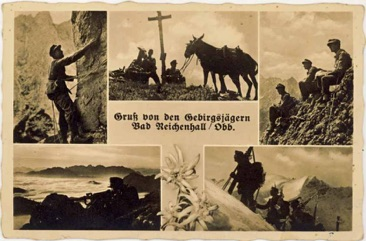Ww2 German Gebirgsjäger from Bad Reichenall, Oberbayern 1941 Postcard