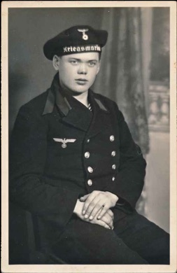 Original WW2 German Photo Kriegsmarine Navy Sailor Postcard