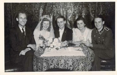 Original period photo of WW2 German Army Unteroffizier at wedding