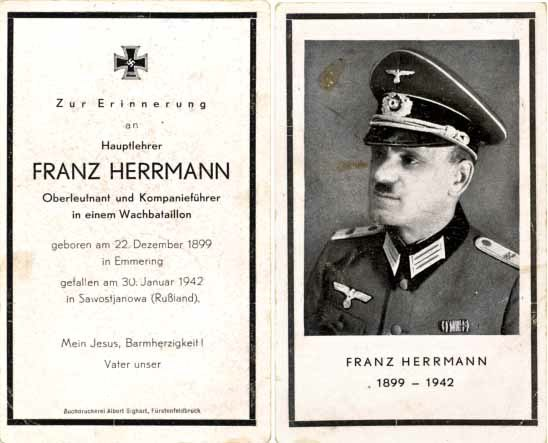Ww2 Death Cards Sterbebilder 11