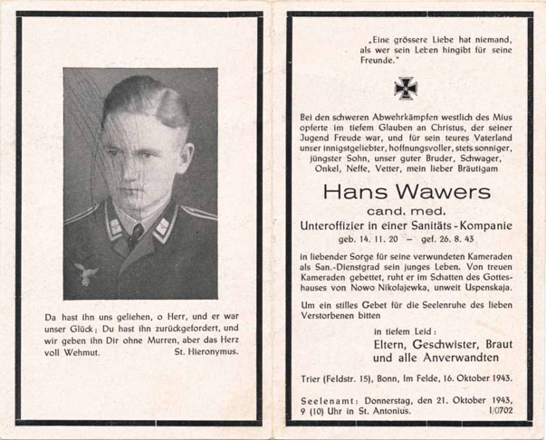 WW2 German Death Card Sterbebild Medic doctor candidate Luftwaffe