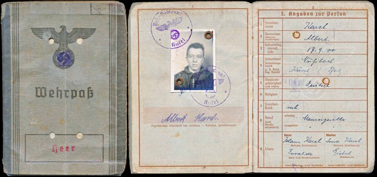 WW2 German Army Organization Todt Wehrpass Dienstbuch
